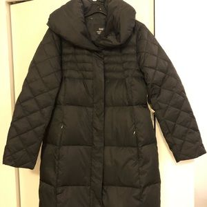 A.N.A Long Down Quilted Puffer Jacket Sz Large NEW